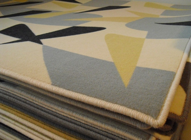 Design carpet – Yellow shards – originál 2